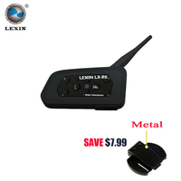 Brand LEXIN R6 Interphone Motorcycle Intercom Bluetooth Walkie Talkie 1000M Connects For 6 Riders Earphone Helmet