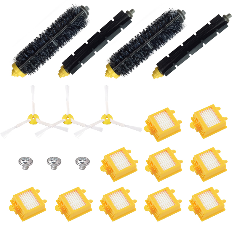 6-Armed Side Brush For iRobot Roomba 700 Series 760 770 780 Robot Vacuum Cleaner Replacement Parts Accessories new brush 4 x filter 3 armed side kit for i robot roomba 700 series 760 770 780