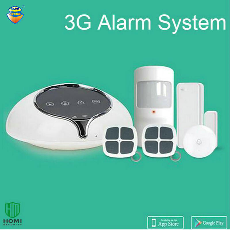 (1 Set) 3G WCDMA Wireless Alarm system Home security intruder sensor anti burglar support APP Door bell function Full band wireless service call bell system popular in restaurant ce passed 433 92mhz full equipment watch pager 1 watch 7 call button