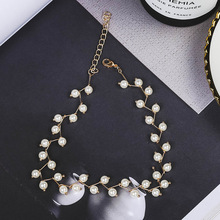 New Fashion Bohemian chain Pearl Chokers chunky big statement Flower Beads Necklaces Collars