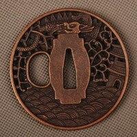 نمط جديد دقيق منحوتة السيف المناسب سبيكة تسوبا اليد الحرس ل سيف الساموراي اليابانية كاتانا أو واكيزاشي حرفة معدنية لطيفة|guard|guard hand  -