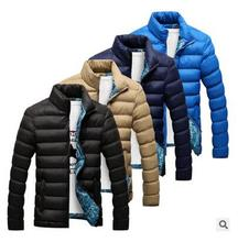 2017 новый зимний мужской воротник воротник толщиной шелк хлопка одежды большой размер пуховик мужчин зимняя куртка куртка размер М-XXXXL