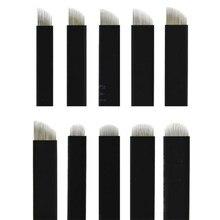 Aguja de tatuaje Nano negro, 0,16mm Flex 12U 14U 16U 18U 21U, agujas de Microblading, maquillaje permanente, Lamina de cejas para bordado