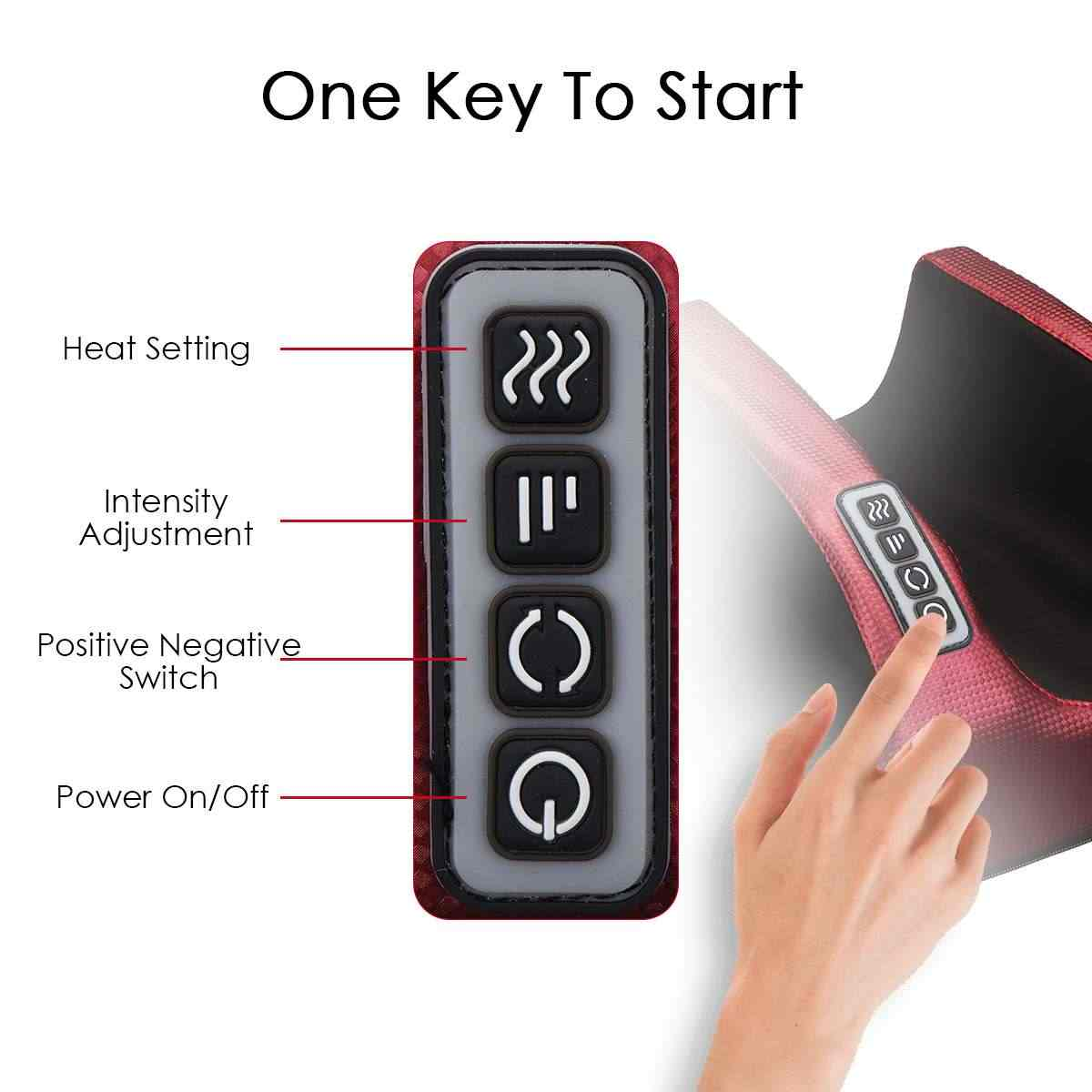 New 6 In 1 Electric Foot Massager Calf Leg Air Compression Massage