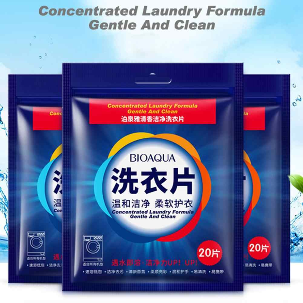 20Pcs Nano Super Concentrated Laundry Clean Gentle Washing Detergent Sheets