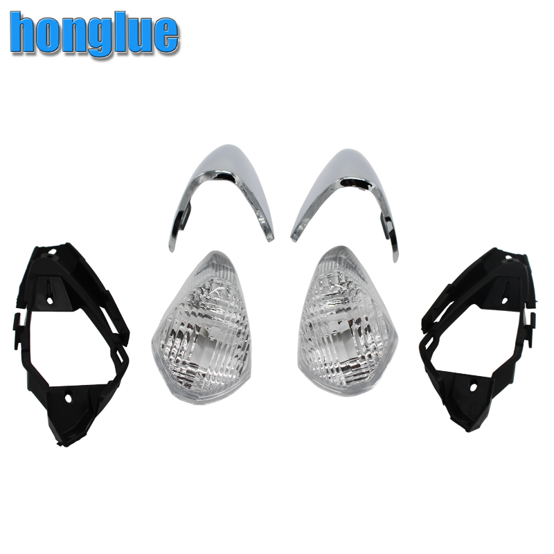 For HONDA FORZA 250 MF06 2000-2003model Motorcycle Cruise Scooter chrome Front turn signal light Assembly Front Signal light