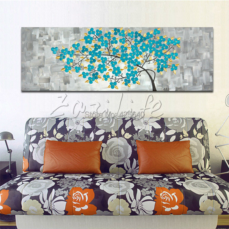 Oil Painting On Canvas Wall Art Canvas Picture Modern Abstract Oil Painting Home Decor Living Room The Blue Tree
