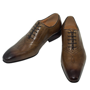 Image 4 - Men Dress Wedding Shoes Classic Khaki Coffee Color Luxury Brand Office Formal Pointed Toe Solid Oxford Genuine Leather Mens Shoe