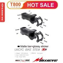 цена на Super strength Ultra light TOP brand 6 or 17 Degrees Mountain /Road bike Matte 3K Full Carbon Fibre Bicycle Stem  31.8*80-120mm