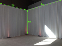 2pcs/lot 3m x 3m white Silk Wedding Backdrop wedding backdrop drapes curtain stage decor wedding supplies props