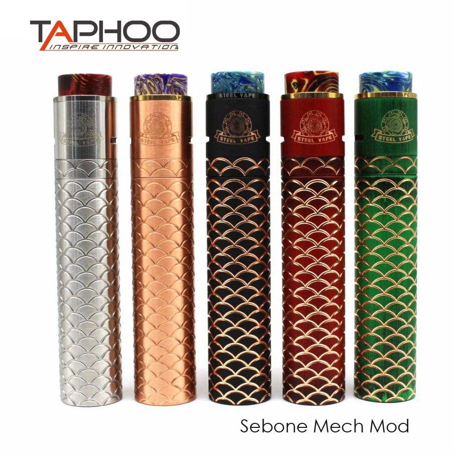 TAPHOO Kit de vapotage Sebone E Cigarette mécanique Tube Mech Mod Kits vaporisateur électronique narguilé chaud TAPHOO MOD