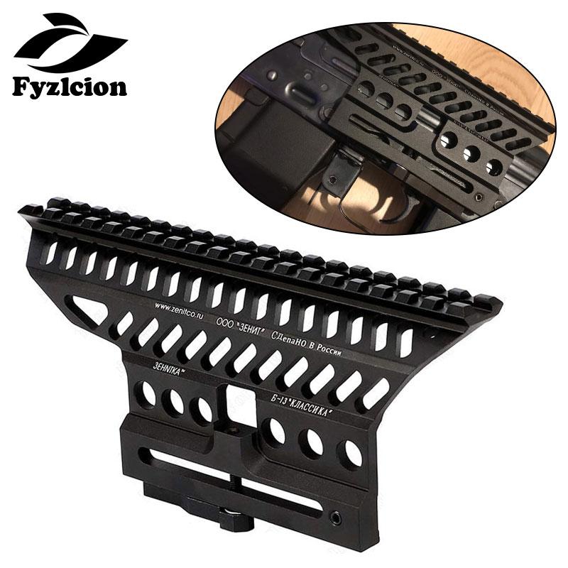 Hunting AK  Series 20mm Picatinny Rail Base Red Dot Scope Mount CNC Black For AK47  Rifles