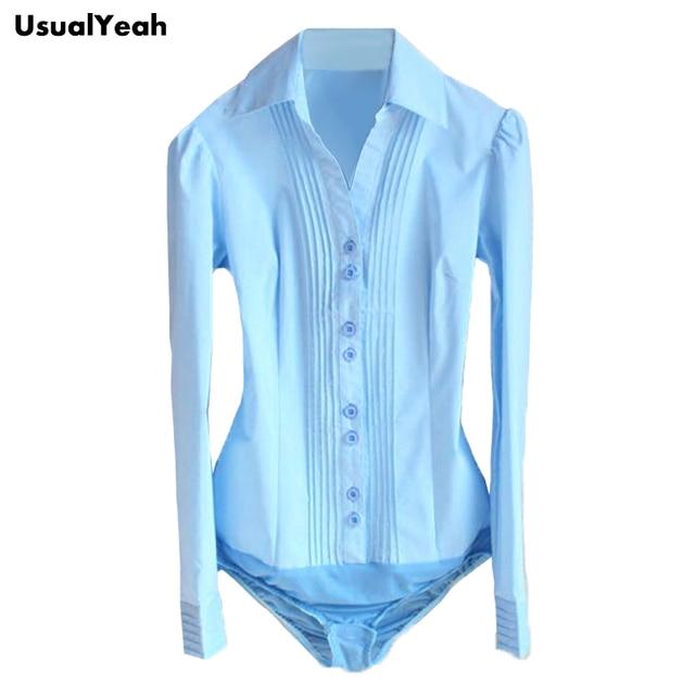 ON SALE!! New 2017 Women OL Long Sleeve V-neck pleated Body Shirt Blouse women work wear S-XXL Black, White, Blue SY0091