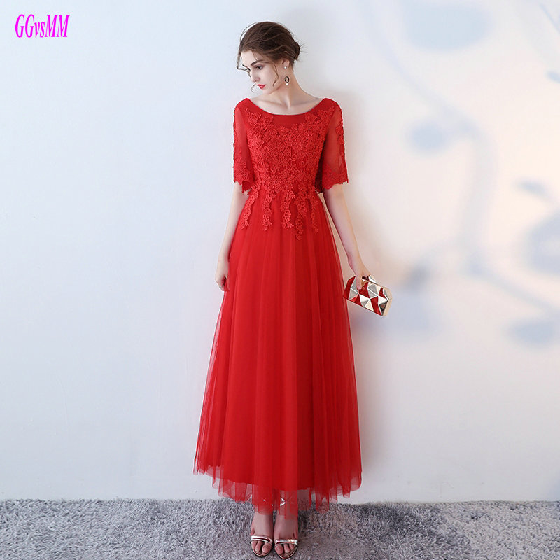 Fashion Red Plus Size Evening Dresses Long 2018 New Sexy Formal