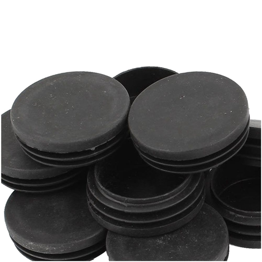Hot Sale Blanking End Round Tube Inserts Cap Cover 50mm Dia Black 12 Pcs