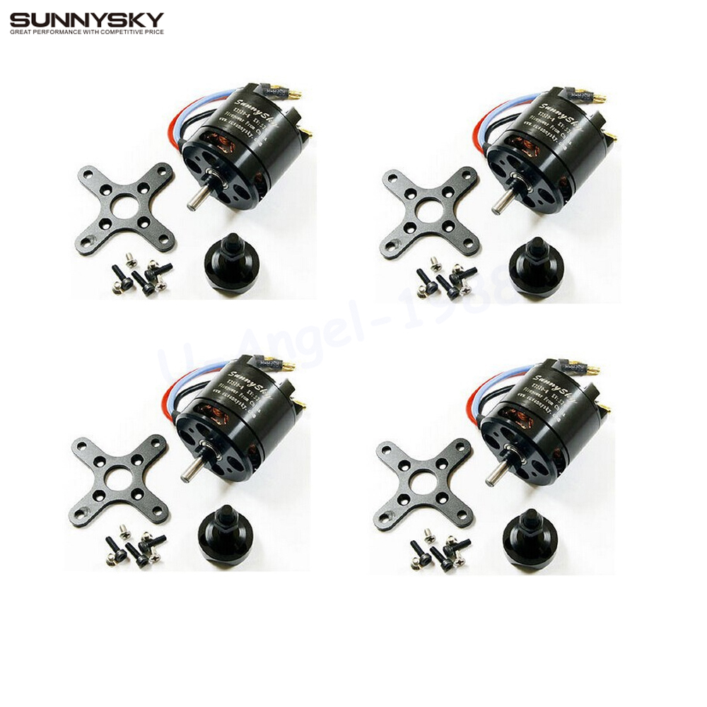 4pcs/lot SUNNYSKY X3520 KV520 KV720 Outrunner Brushless Servo Motor for Skyhunter 6S airplane for FPV Quadcopter drones 2017 dxf sunnysky x2206 1500kv 1900kv outrunner brushless motor 2206 for rc quadcopter multicopter