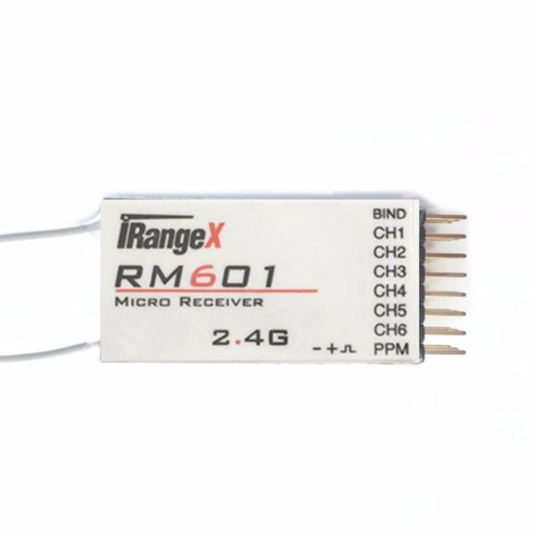 iRangeX RM601 2.4G 7CH Micro DSM2 DSMX Compatible Receiver With PPM Output For Rc Airplane Parts dasmikro dsm2 5ch 2 4ghz rc micro receiver