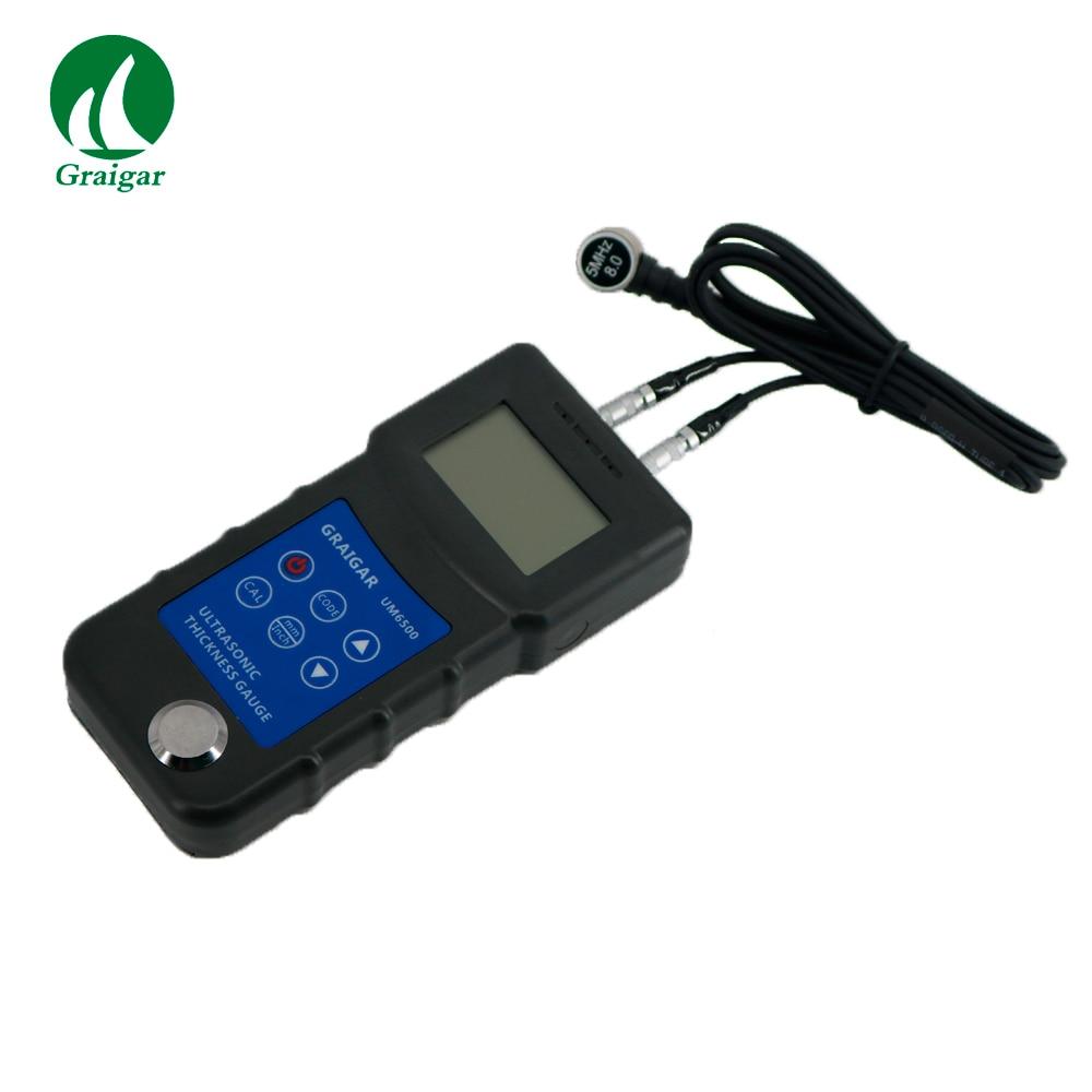 Digital UM6500 Ultrasonic Thickness Gauge Tester Meter 1.0-245mm//0.05-8inch New