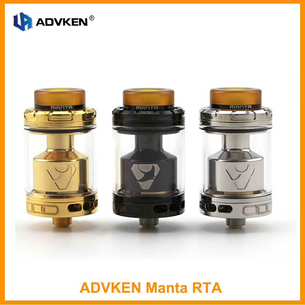 Original ADVKEN Manta RTA Atomizer 510 Thread Top Re-filling System Atomzier Tank Electronic Cigarette