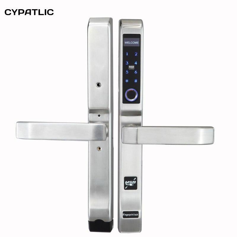 Cypatlique JCF3372 biométrique d'empreintes digitales électronique serrure de porte intelligente numérique serrure de porte pour la maison/appartement