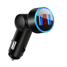 Accessories Car Charger Adapter Audio Rotation Real-time Voltage Display 3.1A Socket 100*30mm 1pc SUV