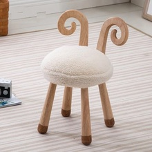 FREE SHIPPING U-BEST Wood Stool Baby Chair Kids Learn Chair Rabbit Ears Little Stool,goad shape stool cafe stool orange color furniture free shipping coffee milk tea table lifting chair supermarket food market stool