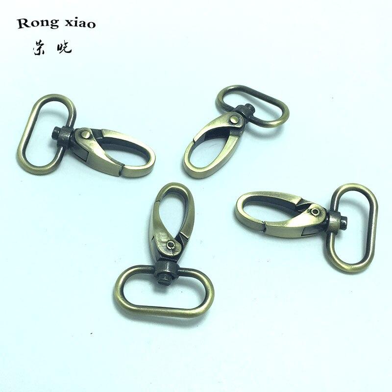 1 pulgada (25mm) pinzas giratorias de langosta en ganchos de cierre a presión de bronce para correas de bolsa-in Piezas y accesorios para bolsos from Maletas y bolsas    3