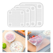 4Pcs/set Reusable Silicone Stretch Lids bowl Food Cover Vacuum Wrap Seal Storage Container Fresh Keeping Kitchen