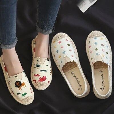 Étudiantes La Femmes Version Sauvage Une Chic Toile Pédale Coréenne Rétro De Chaussures Harajuku Blanc Ulzzang Paresseux wqPExPU