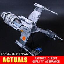 Лепин 05045 Новый 1487 Шт. Подлинная Звезда Война Серии B крыла Starfighter Строительные Блоки Кирпичи Развивающие Игрушки 10227