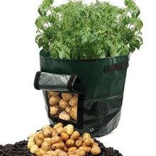 Vegetable Plant Grow Bag DIY Potato Planter PE Cloth Tomato Planting Container Garden Pot Supplies