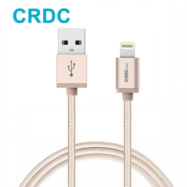 Crdc для MFi Сертифицированный USB синхронизации данных зарядный кабель 1.2 м нейлон 8pin Плетеный зарядный кабель для iPhone 7 6S плюс IPHONE 5S 4 iPad