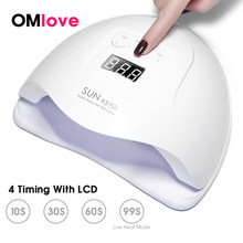 OMlove SUN X 54W/48W UV LED Lamp Nail LCD Display 36 LEDs Nail Lamp For Manicure Curing Gel Polish Auto Sensing Dryer For Nail(China)