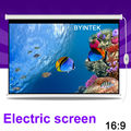 Home Cinema 100inch 16:9 Electric Synchronous Motorized Projection HD LCD LED DLP Projector Screen Free Shipping