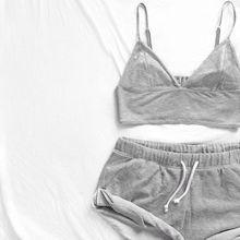 2017 Fashion Nightwear Set Vest + Short Pants Sleepwear Wome