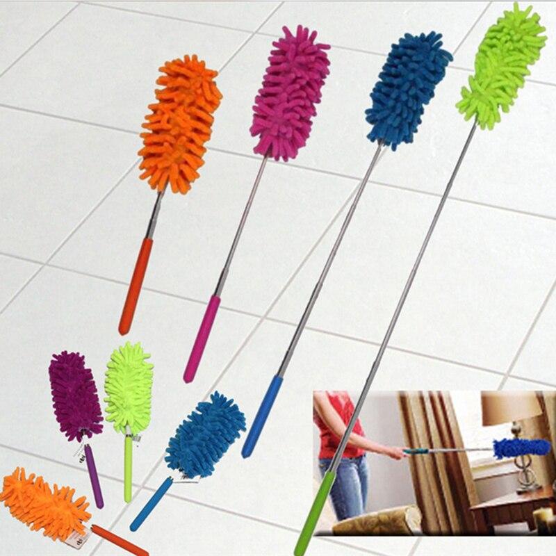Chenille hogar Alargan Escalable Polvo Varias Polvo Plumeros Coche de Limpieza D