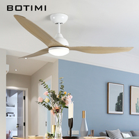 BOTIMI New Arrival 52 Inch LED Ceiling Fan Modern Fan Lights Remote Cooling Ceiling Fans Home Lighting Fan Lamps Fixtures