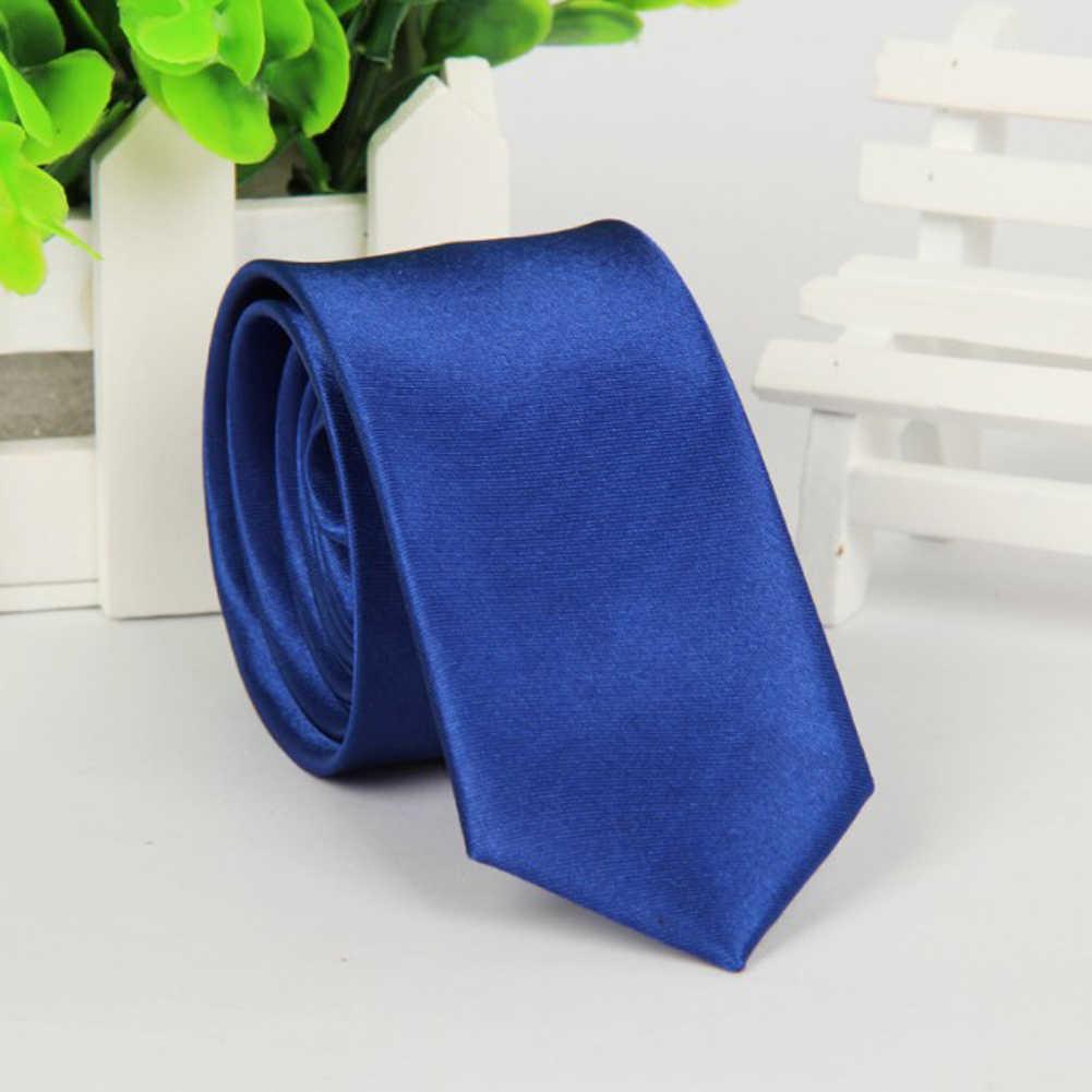 Erkekler katı sıska kravat moda Casual Slim Fit kravat örgün düğün parti kravatlar erkek kelebekler ipek iş siyah kravat adam