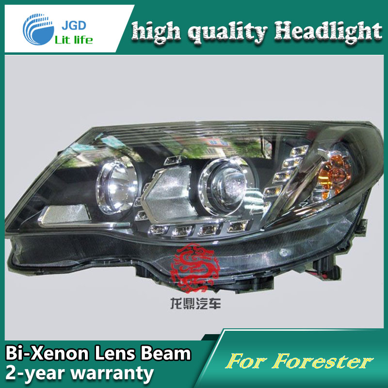 high quality Car Styling case for Forester 2008-2009 Headlights LED Headlight DRL Lens Double Beam HID Xenon high quality car styling case for mitsubishi lancer ex 2009 2011 headlights led headlight drl lens double beam hid xenon
