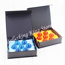 1Set DBZ 3.5cm Dragon ball Z Dragonball Shenron Crystal Ball PVC Figure Toys 7 Stars Balls Dolls Blue/ Yellow Great Gift