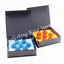 DBZ Juego de 7 Bolas de cristal de Dragon ball Z, juego de bolas de dragón Shenron de 3,5 cm, juguetes de figuras de PVC de 7 estrellas, azul/amarillo