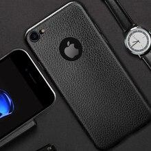 Ультра тонкий чехол для телефона для iPhone 6 6S плюс 7 7 Plus Бизнес кожи Телефон задняя крышка для iPhone 6 Мягкий силиконовый чехол