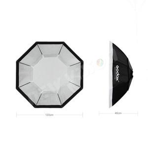 """Image 3 - Godox Pro 120 cm 47 """"Studio octogone nid dabeille grille Softbox réflecteur Softbox avec monture Bowens pour Flash Studio stroboscopique"""