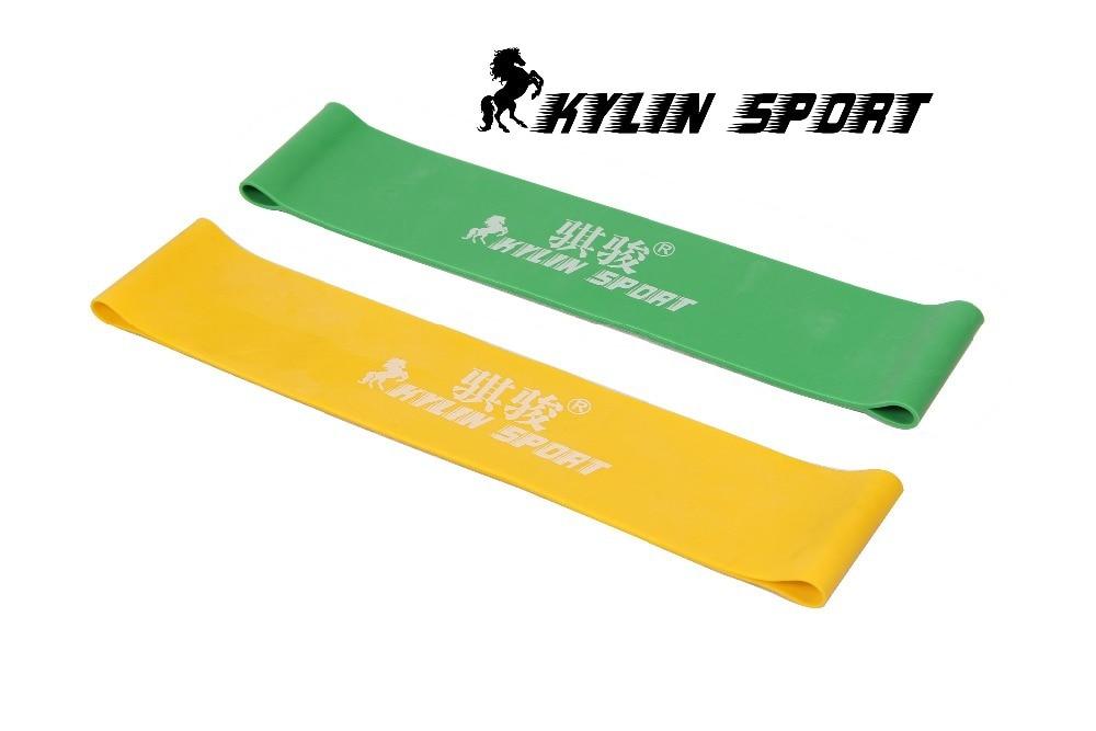 blau und gelb Kombination Latex Widerstand Bands Training Übung Pilates Yoga Bands Schleife Handgelenk Knöchel elastischer Gürtel