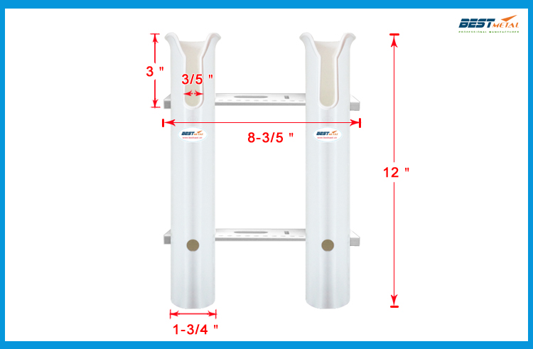 2 Tubes Link White plastic fishing rod holders fishing rod racks socket for boat marine fishing box kayak boat yacht