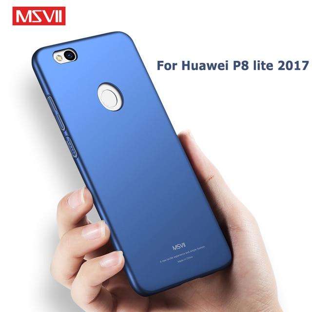 Huawei P8 Lite 2017 Ốp Lưng MSVII Mỏng Mờ Trường Hợp Cho Huawei P9 Lite 2017 Lưng MÁY TÍNH Dành Cho huawei Honor 8 Lite Trường Hợp