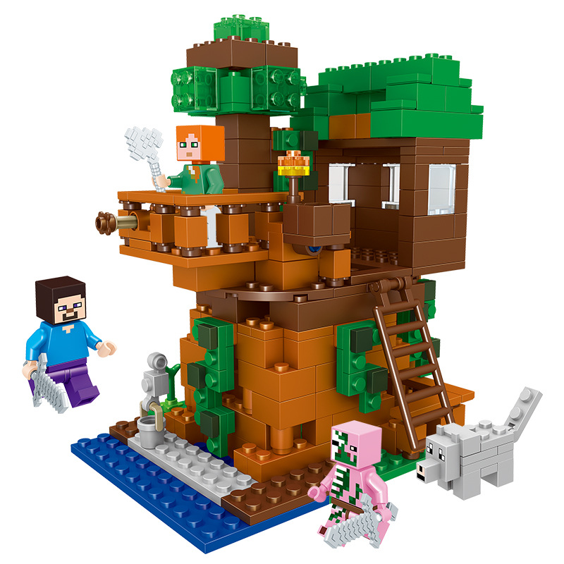 Considerate 406pcs Tree House Compatibie Legoings Minecrafteds Building Blocks Toy Kits Diy Figures Bricks Educational Toys For Children Clearance Price Toys & Hobbies