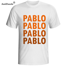 Antidazzle I FEEL LIKE PABLO Men's T-Shirts I Feel Like Paul Tee Short Sleeve HBAT T-Shirt Kanye West Print Pablo Sportwear