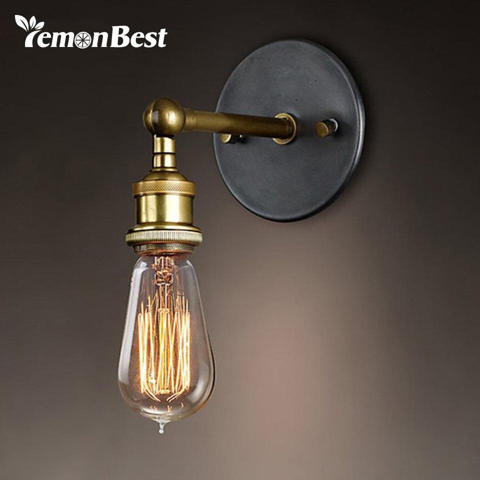 Современные Винтаж Лофт Регулируемые промышленные металлические настенный светильник Ретро латунь настенный светильник стиль кантри бра лампы, светильники
