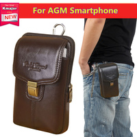 Factory Price Luxury Genuine Leather Waist Bag Clip Belt Pouch Cover Case For AGM A8 SE